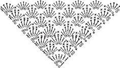 Výsledek obrázku pro crochet shawl diagrams
