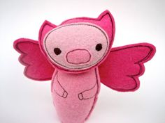 Pig on the wing by OhMafelt on Etsy, $26.00