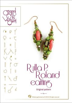 Rulla Picasso Roland earring... PDF instruction by beadsbyvezsuzsi