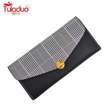 64c81237b0f13 Fashion Plaid Long Wallets For Women High Quality PU Leather Women Standard  Wallets Famous Brand Long Purses Women Wallets 2018
