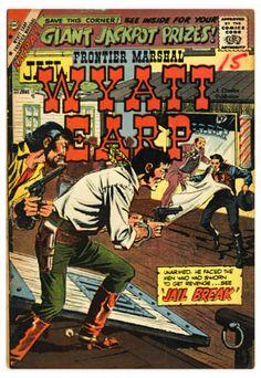 * Giordano inks, possible pencils Jonah Hex, Charlton Comics, Wyatt Earp, Western Comics, Great Western, Westerns, Silver Age, Comic Covers, Men