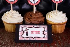 Cowboy Food Tents Baby Shower- Black & Red