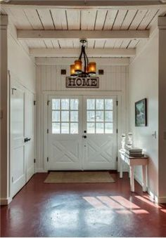 Entry Way in TN   Love the doors, the walls , the ceiling  Everything