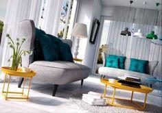 Sofa Noble z barwnymi dodatkami od #internumpolska / Sofa Noble