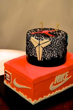 Nike Sneakerhead Shoe Kobe Michael Jordan Boys Birthday Cake By ToyCake 16th