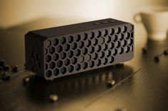 Honeycomb Bluetooth Speaker by Zhiqiang Jiang - loving the honeycomb pattern, but I may have moved the inputs to the back