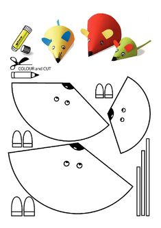 occuper vos enfants - Página 19 - kids crafts crafts for kids etc - Travaux manuels - Mouse Crafts, Paper Crafts For Kids, Arts And Crafts, Diy Paper, Easy Crafts, Craft Activities, Preschool Crafts, Snail Craft, Printable Crafts