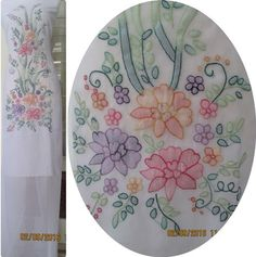 Embroidery Flowers Pattern, Embroidery Ideas, Flower Patterns, Embroidery Stitches, Kutch Work Designs, Chinese Embroidery, Embroidery Suits Design, Hijab Tutorial, Flower Ideas