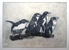 Julia Elsey – little penguins. Australian Bush, Textile Prints, Lovers Art, Printmaking, Penguins, Illustration Art, Graphic Design, Ink, Inspired