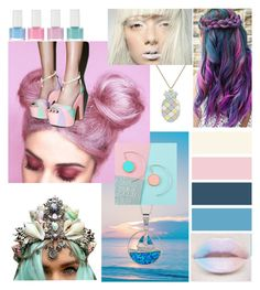 """""""pastel pop"""" by beanpod ❤ liked on Polyvore featuring Paul & Joe, La Preciosa and Sugarbaby"""