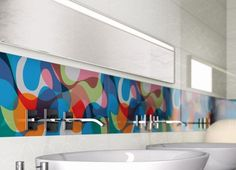 Backsplash Ideas For Kitchen To Protect The Kitchen Wall: Graphic Retro Kitchen Backsplash Designs ~ Kitchen Inspiration