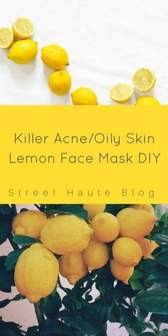 The Killer Acne/Oily Skin Lemon Face Mask Have you been dying to find a face mask that will get rid of all that oily and acne on your skin? Well here it is! The killer face mask I use to get rid of dirt and oil on my skin. It is perfect after you take of ...