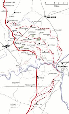 Plan of the Battle of the Somme 1916