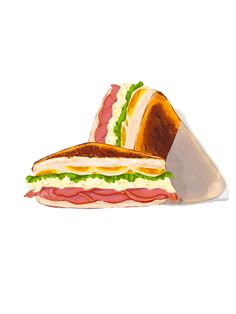 Cute Illustration, Digital Illustration, Sandwich Drawing, Drawing Art, Art Drawings, Clubhouse Sandwich, Art Ideas, Sandwiches, Digital Art