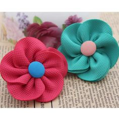 Aliexpress.com : Buy 50pcs/lot DIY handmade flower head  clothes shoe hair accessory five petal flower corsage wholesale  7 colors free shipping from Reliable silk orchid suppliers on Lore 's Decoration Flowers Store. $34.99