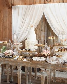 Rustic dessert table (from Blake Lively and Ryan Reynolds wedding)