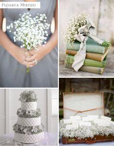aranjamente de nunta cu floarea miresei