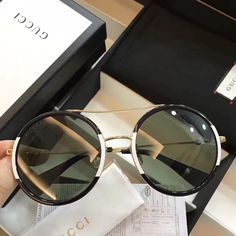 2aef6b9741 GG 0061 Sunglasses Luxury Women Brand Designer 0061 Fashion Round Summer  Style Mixed Color Frame Top Quality UV Protection Lens Come With Case