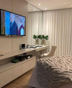 Hotel Bedroom Design, Master Bedroom Interior, Home Room Design, Modern Bedroom Design, Home Office Design, Home Decor Bedroom, Living Room Decor, House Design, Cute Room Decor