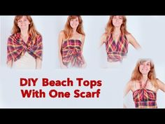how to tie a scarf into a crop top - Bing video