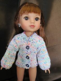 Candy Colored Sweater for 14''Dolls, seen on Hearts for Hearts Doll, Mutil-colored Sweater,Causul Wear, Outer Wear,Fun Sweater,Everyday Wear by SewManyThingsbyNancy on Etsy