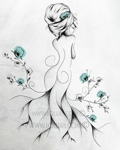 LouJah - Poppy Poem #art #illustration #draw #drawing #doodle #stretch #boho…