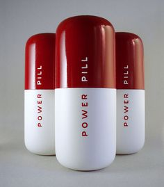 Power Up. Power Pill Energy Drink Packaging