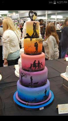 Story line wedding cake how creative!