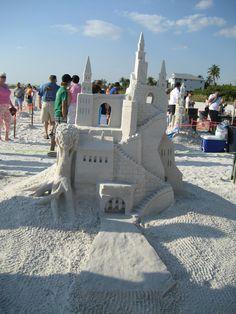 Ft. Myers Beach, Florida Sand sculpting contest Florida Girl, State Of Florida, Florida Beaches, Pine Island, Captiva Island, Fort Myers Beach, Sand Sculptures, Cape Coral, Sand Art