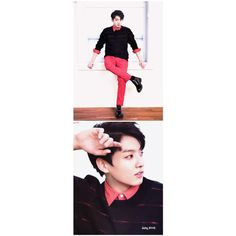 KOOKIE Why you have to look like that? *incomprehensable speech*... ❤ liked on Polyvore featuring bts