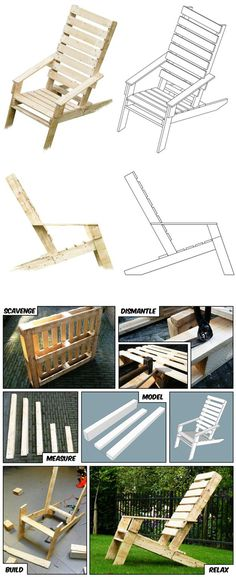 One-Pallet Chair | Cool Outdoor DIY Pallet Furniture by DIY Ready at  http://diyready.com/diy-pallet-projects-outdoor-furniture/ (Kids Wood Crafts Pallet Furniture)