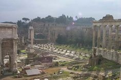 """Roman Forum or Forum Romanum (Foro Romano), Rome - Places In Rome Shown By """"Map K Zone"""" - Alphabetical Index of all places In Rome (Rom Roman Forum, Brooklyn Bridge, Travel Guides, Paris Skyline, Rome, Dolores Park, Places, Forget, Google"""