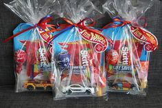 Hot Wheels / Race Car Birthday Party Favor