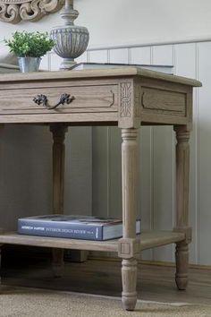 Blenheim Rectangular Side Table - Weathered Oak – La Residence Interiors