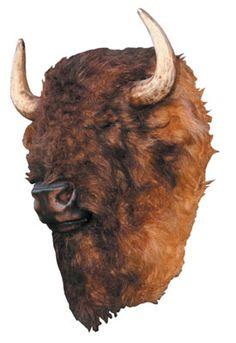 Buffalo Head Life Size Mount Wall Decor Lifelike