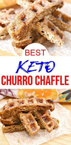{Keto Chaffle} Easy simple ingredient churro chaffle you will want to check out! Quick & simple ingredient ketogenic diet chaffles that make for a easy keto breakfast, keto snack or keto dessert… Ketogenic Diet Meal Plan, Ketogenic Diet For Beginners, Ketogenic Recipes, Low Carb Recipes, Yogurt Recipes, Keto Foods, Healthy Foods, Healthy Recipes, Keto Desserts