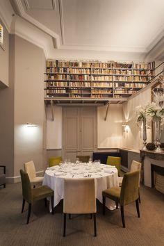 La bibliothèque (salon Jefferson), idéal réunions ou dîners intimes !