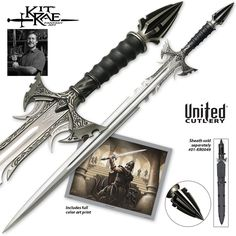 Kit Rae Sedethul Fantasy Cosplay Steel Blade Sword Medieval Great New Fantasy Sword, Fantasy Weapons, Fantasy Armor, Swords And Daggers, Knives And Swords, Kit Rae, United Cutlery, Cool Swords, Cold Steel