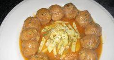 Receta de Albóndigas de pollo en salsa de zanahorias