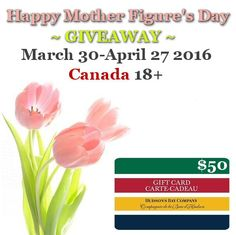 What's New Canada wants to help you Celebrate Mother's Day with a  $50 Hudson's Bay GC  CAN 18+ 4/27 Cash Gift Card, Gift Cards, Hudson Bay, Whats New, Happy Mothers, Check It Out, 50th, Wonderful Things, Giveaways