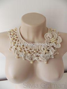 Silvia Gramani Crochet: Pearl Necklace