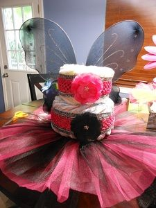 Sweet little girl cake with a useable tutu!