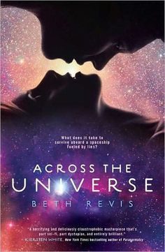 "Across the Universe by Beth Revis. 17 year old Amy joins her parents as frozen cargo aboard the vast spaceship ""Godspeed"" and expects to waken on a new planet in 300 years. Never could she have known that she would be thrust into the world of a spaceship that lives by its own rules (teens)."