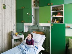 Hospital room for kids by Kontor Kontur. I wish Rigshospitalet looked like this. A room to get well in!