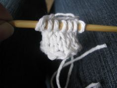 """Would someone else be the responsible adult now?: TUTORIAL: I-cord or """"Belly Button"""" Provisional Cast-on for Circular Knitting"""