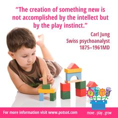 The creation of something new is not accomplished by the intellect but by the play instinct - Carl Jung