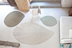 nao tamura's quill carpet for nanimarquina evokes the delicacy of a fallen feather