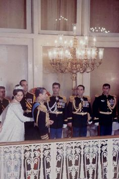 Le mariage de Mohammad Reza Pahlavi, Chah d'Iran avec Farah Diba le 21 décembre 1959