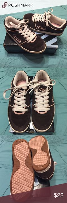 """🆕🎉👉🏼- Vans Coffee & Rose Marianna Lace Ups Ladies Vans! Size 7.5. Box says """"W"""" - they could be a wide but I normally wear a Medium. Brown suede (genuine leather) with pink trim. White laces. Hardly worn but there are marks on the white soles. Classics! Super comfy for walking. Thank you. 🌸 Vans Shoes Sneakers"""