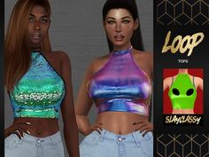 SCLASSY - Loop Tops - The Sims 4 Download - SimsDom RU